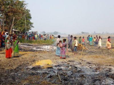 भूमि विवाद में चचेरे भाई की हत्या : चार घायल