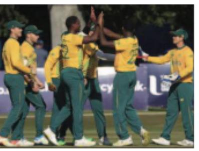 दक्षिण अफ्रिका ने आयरलैंड काे 33 रनाें से हराया